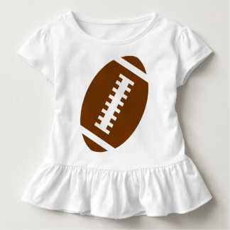 FOOTBALL TODDLER White | Front Football Graphic Toddler T-shirt