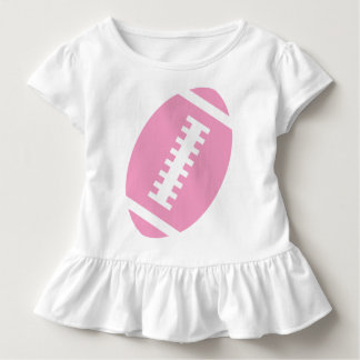 FOOTBALL TODDLER White | Front Pink Football T Shirt