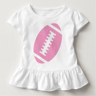 FOOTBALL TODDLER White | Front Pink Football Toddler T-shirt