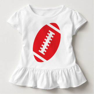 FOOTBALL TODDLER White | Front Red Football Toddler T-shirt