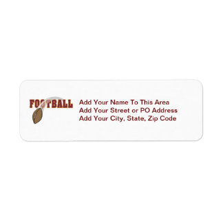Football Toss T-shirts and Gifts Return Address Label