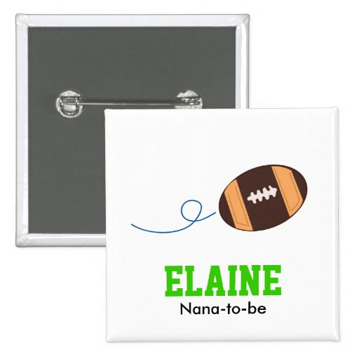 FOOTBALL Touch Down Sports Personalized Button