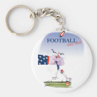 Football touch down, tony fernandes keychain