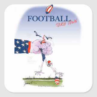 Football touch down, tony fernandes square sticker