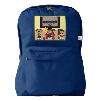 Football Touchdown Kids Game Day Blue Party American Apparel™ Backpack
