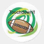 Football, Touchdown Sticker