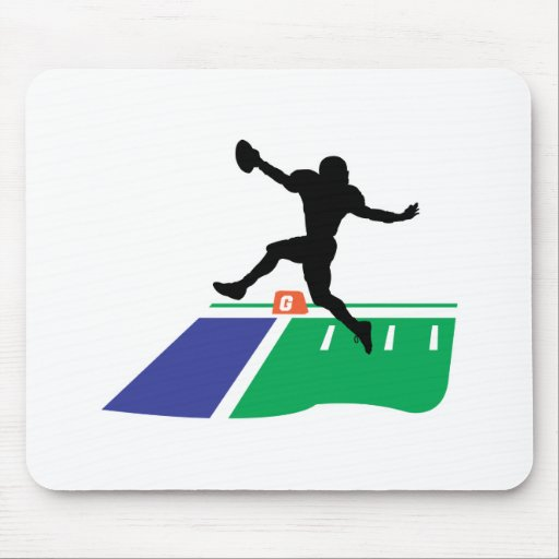 football touchdown vector graphic mouse pad