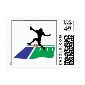 football touchdown vector graphic stamp