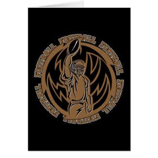 Football Tribal Brown Logo Card