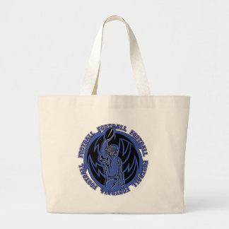 Football Tribal Dark Blue Logo Canvas Bags