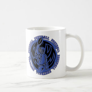 Football Tribal Dark Blue Logo Coffee Mug