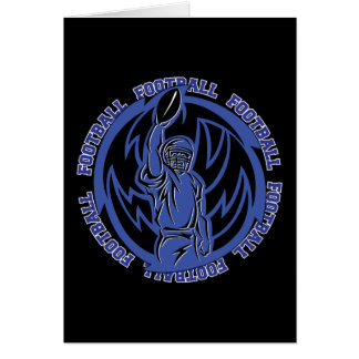 Football Tribal Dark Blue Logo Greeting Cards