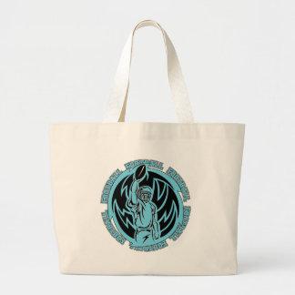 Football Tribal Light Blue Logo Canvas Bag