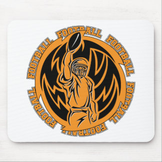 Football Tribal Orange Mouse Pad