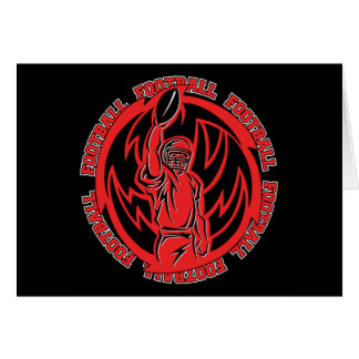 Football Tribal Red Logo Cards