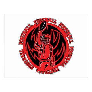 Football Tribal Red Logo Post Card