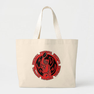Football Tribal Red Logo Tote Bags