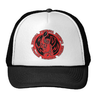 Football Tribal Red Logo Trucker Hat