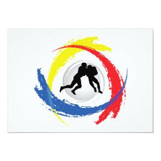 Football Tricolor Emblem Card