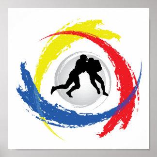 Football Tricolor Emblem Poster