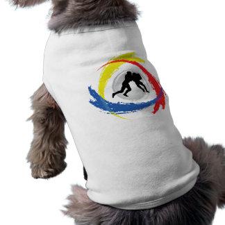 Football Tricolor Emblem T-Shirt