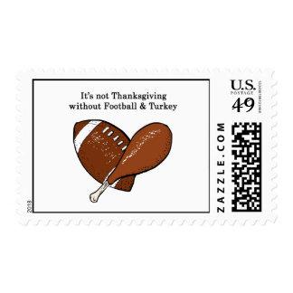 Football & Turkey Postage Stamp