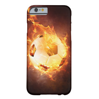 Football under Fire, Ball, Soccer Barely There iPhone 6 Case