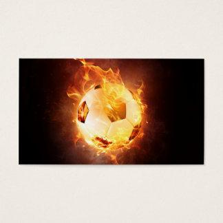 Football under Fire, Ball, Soccer Business Card