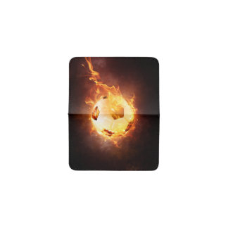 Football under Fire, Ball, Soccer Business Card Holder
