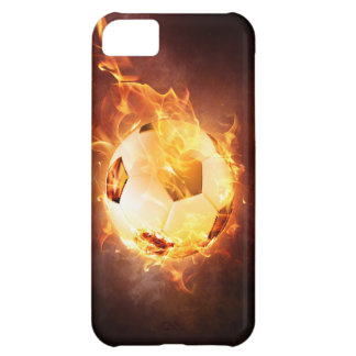 Football under Fire, Ball, Soccer Case For iPhone 5C