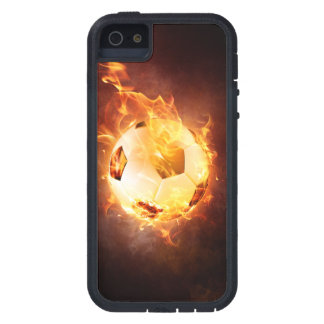 Football under Fire, Ball, Soccer Case For iPhone SE/5/5s