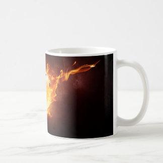 Football under Fire, Ball, Soccer Coffee Mug