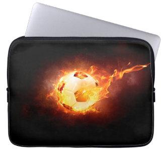 Football under Fire, Ball, Soccer Computer Sleeve