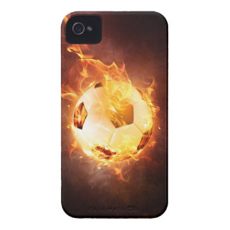 Football under Fire, Ball, Soccer iPhone 4 Cover