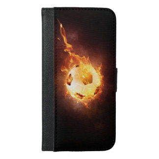 Football under Fire, Ball, Soccer iPhone 6/6s Plus Wallet Case