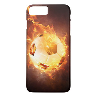 Football under Fire, Ball, Soccer iPhone 8 Plus/7 Plus Case