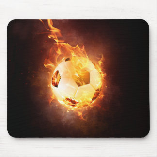 Football under Fire, Ball, Soccer Mouse Pad