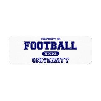 Football University Label