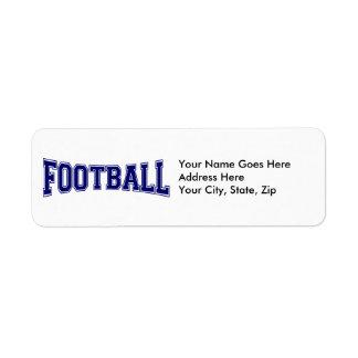Football University Style Label