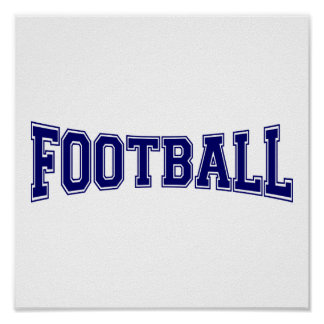 Football University Style Poster