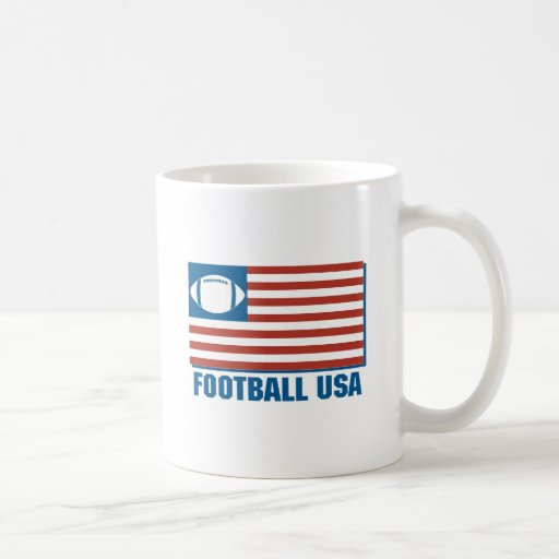 football usa classic white coffee mug