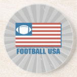 football usa drink coaster
