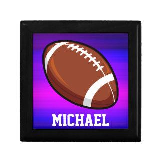 Football; Vibrant Violet Blue and Magenta Gift Box