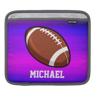 Football; Vibrant Violet Blue and Magenta iPad Sleeves