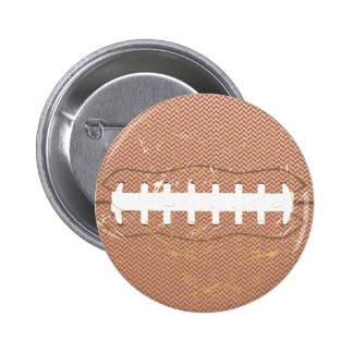 football vintage button