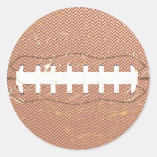 football vintage classic round sticker