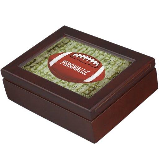 Football Vintage Green Grunge Memory Box