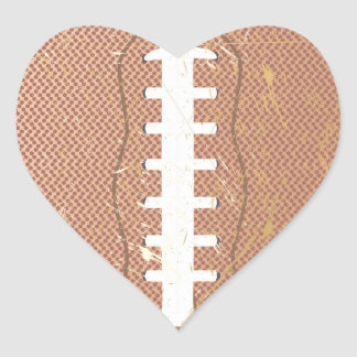 football vintage heart sticker