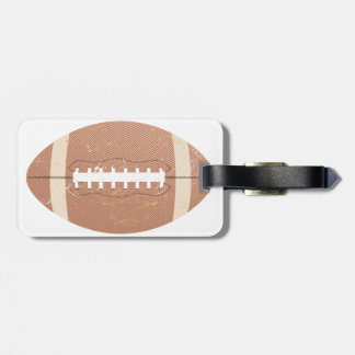 football vintage tag for bags