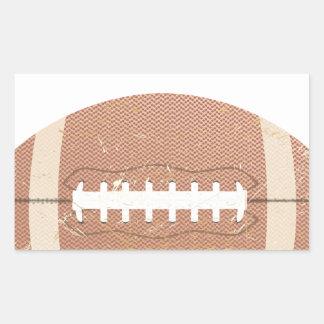 football vintage rectangular sticker